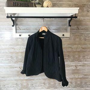 Chico's cotton open jacket